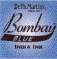 Dr. Ph. Martin's Bombay 1 fl oz Blue India Ink (5BY)