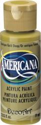 DecoArt Americana 2 oz Acrylic Antique Gold Deep (DA146)