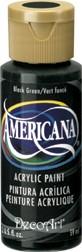 DecoArt Americana 2 oz Acrylic Black Green (DA157)