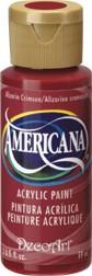 DecoArt Americana 2 oz Acrylic Alizarin Crimson (DA179)