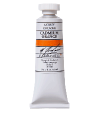 M. Graham  0.5 oz Gouache Cadmium Orange Gouache (36-038)
