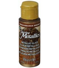 DecoArt Dazzling Metallics 2 oz Acrylic Renaissance Brown (DGM01)