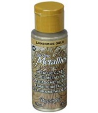 DecoArt Dazzling Metallics 2 oz Acrylic Luminous Gold (DGM02)