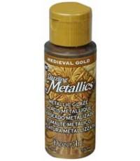 DecoArt Dazzling Metallics 2 oz Acrylic Medieval Gold (DGM03)