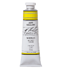 M. Graham  5 oz Acrylic Azo Yellow  (52-018)