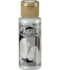DecoArt Americana 2 oz Acrylic White Pearl Metallic (DA117)