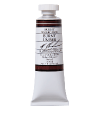 M. Graham  0.5 oz Watercolor Burnt Umber (33-030)