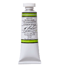 M. Graham  0.5 oz Watercolor Permanent Green Pale (33-131)