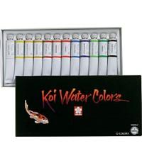 Koi  0.65 lbs Watercolor Koi Watercolor 12/clr Set (SAK-15261)