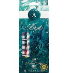 Art Advantage  0.8 lbs Acrylic Art Adv 3/4 oz 12 Acrylic Clr S (ART-310-ST)